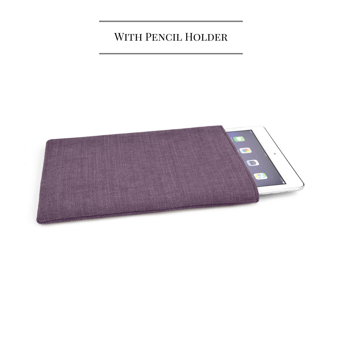 iPad Pro Linen Mulberry 12.9 + Pencil - Wrappers UK