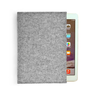 iPad Pro Wool Felt Cover Grey Landscape 9.7 - Wrappers UK