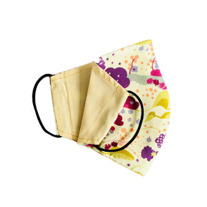 Face Mask Patterns Clouds Reversible Washable Ladies 2 sizes - Wrappers UK