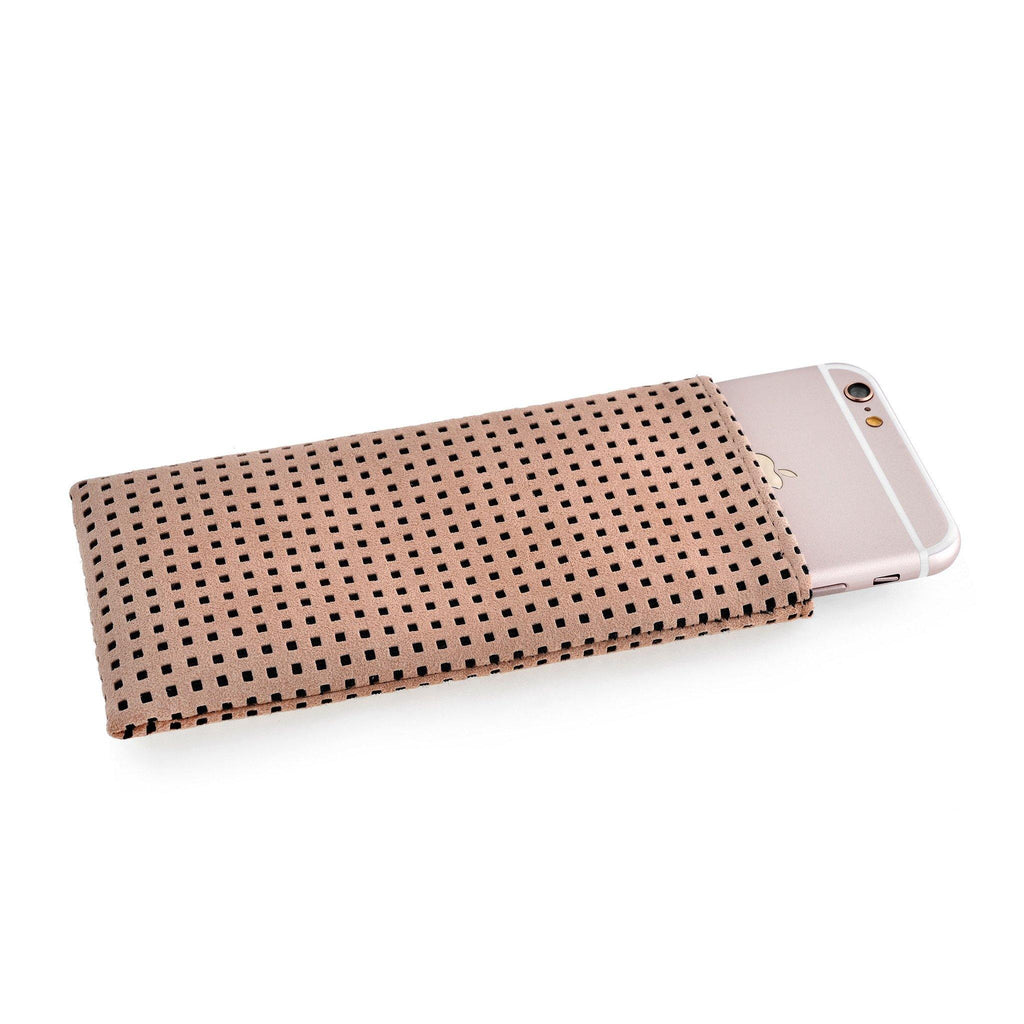 iPhone Alcantara Slip-Case Sand Rosé - Wrappers UK