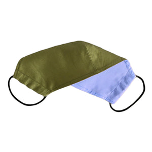 Face Mask Plain Green Reversible Washable adult 3 sizes