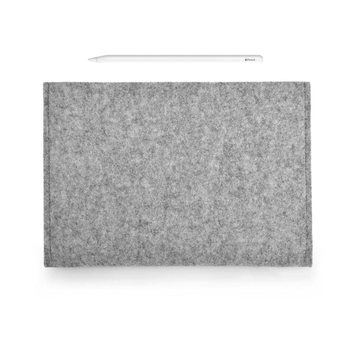 iPad Wool Felt Grey Landscape with Pencil Holder