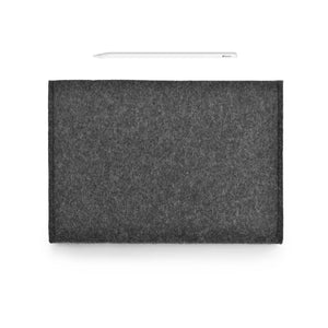 iPad Pro Wool Felt Cover Charcoal Landscape with Pencil Holder