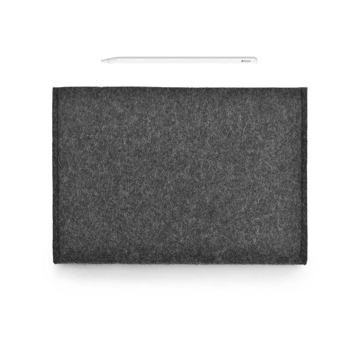 iPad Wool Felt Cover Charcoal Landscape with Pencil Holder
