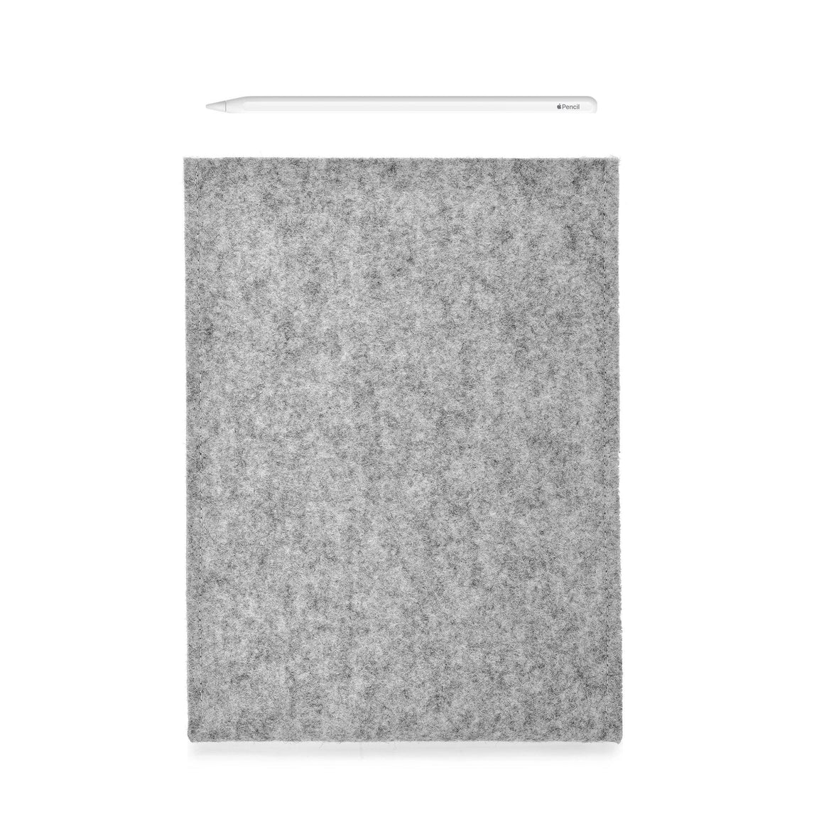 iPad Wool Felt Grey Portrait with Pencil Holder - Wrappers UK