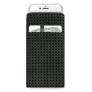 iPhone Alcantara Slip-Case with Pocket Black - Wrappers UK