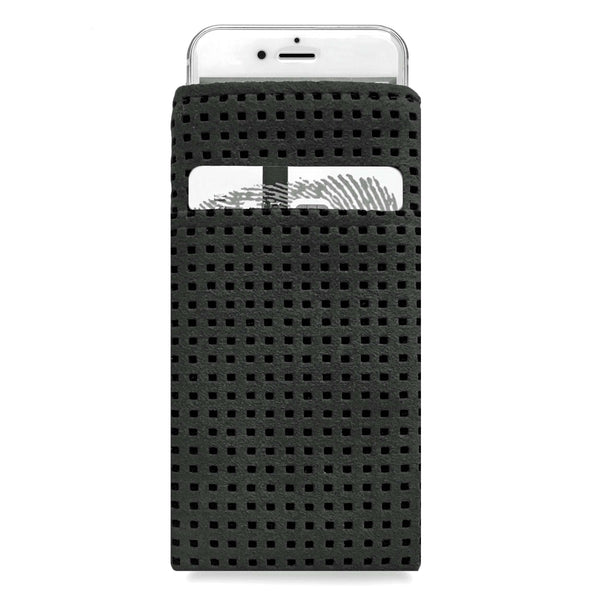 iPhone Alcantara Slip-Case with Pocket Black