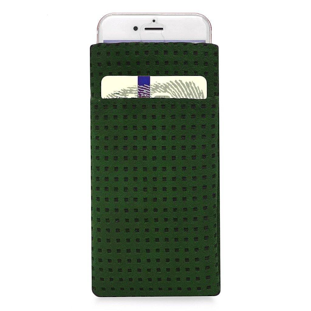 iPhone Alcantara Slip-Case with Pocket Racing Green - Wrappers UK