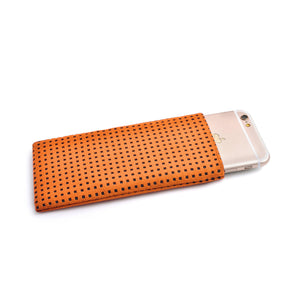 iPhone Alcantara Slip-Case Orange - Wrappers UK