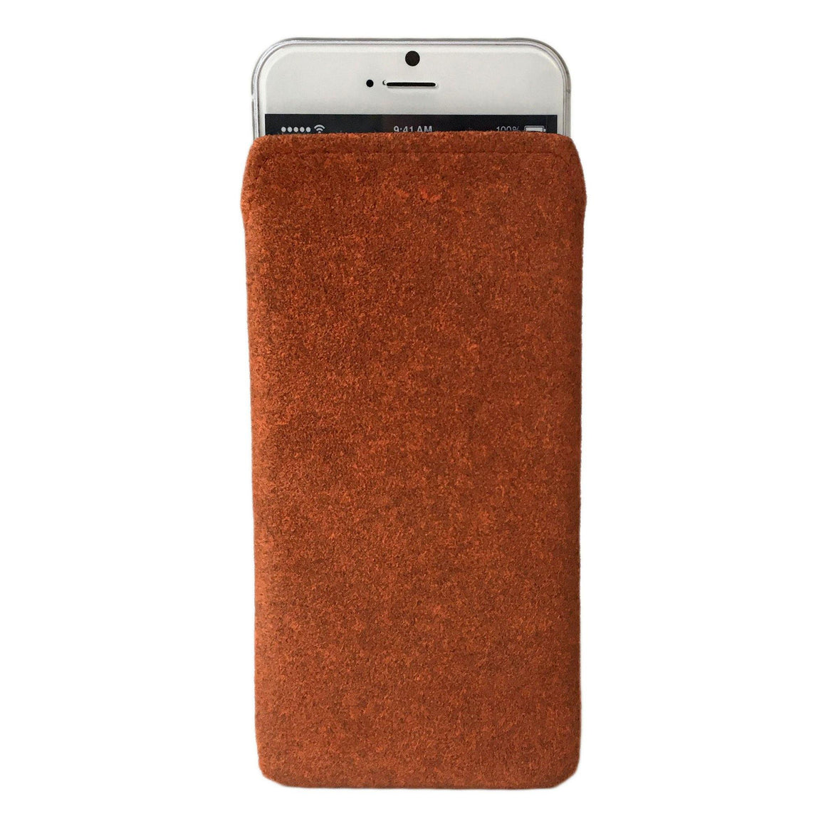 iPhone Alcantara Pouch Pashma Oranges - Wrappers UK