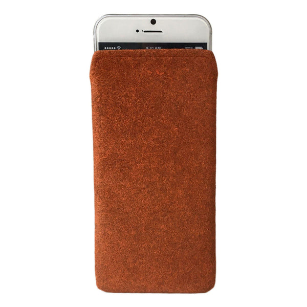 iPhone Alcantara Pouch Pashma Oranges