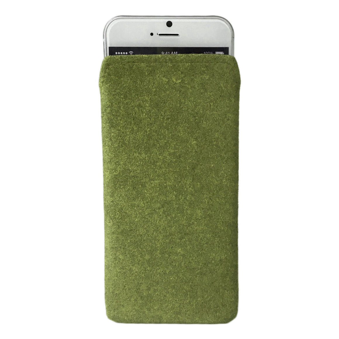 iPhone Alcantara Pouch Pashma Greens - Wrappers UK