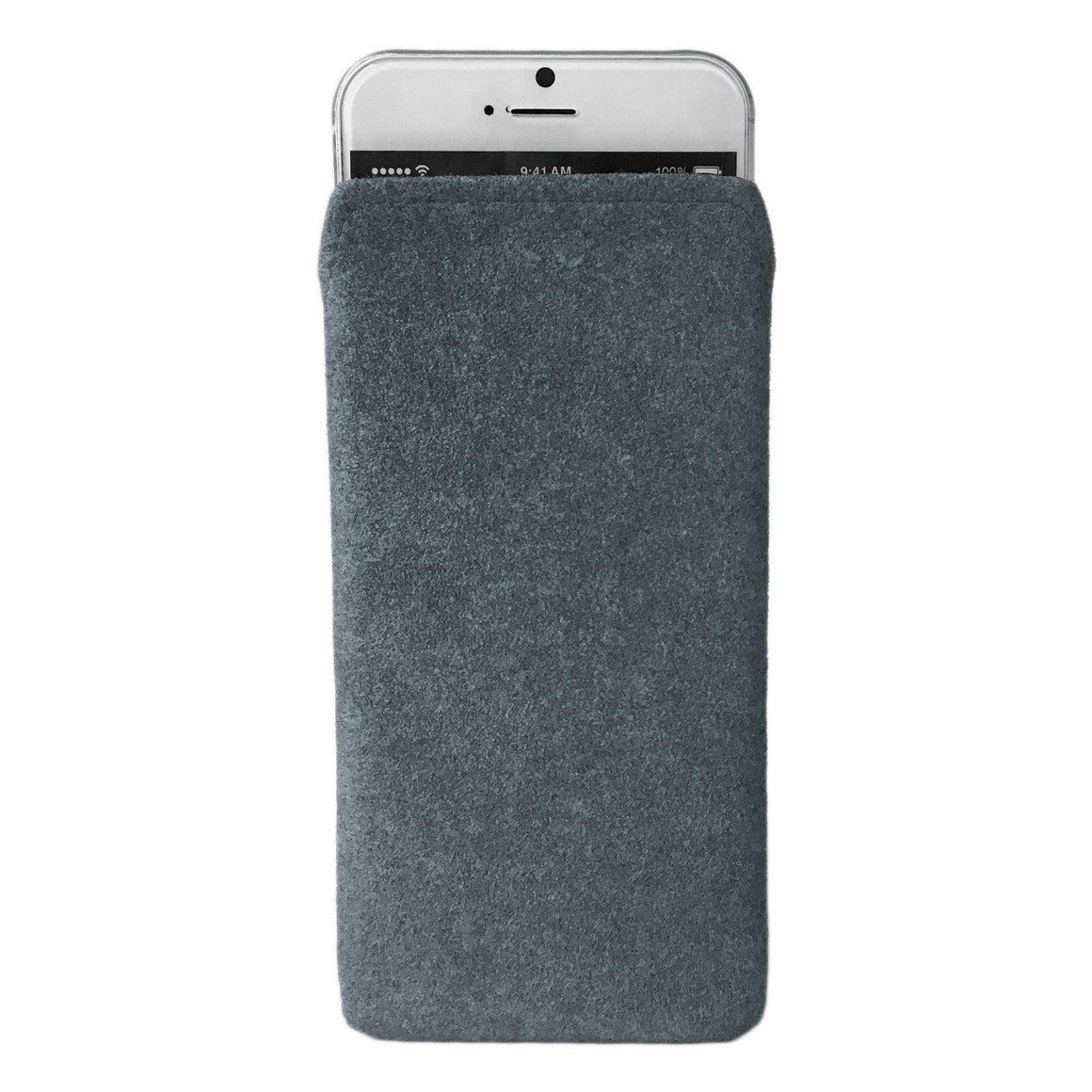 iPhone Alcantara Pouch Pashma Greys - Wrappers UK