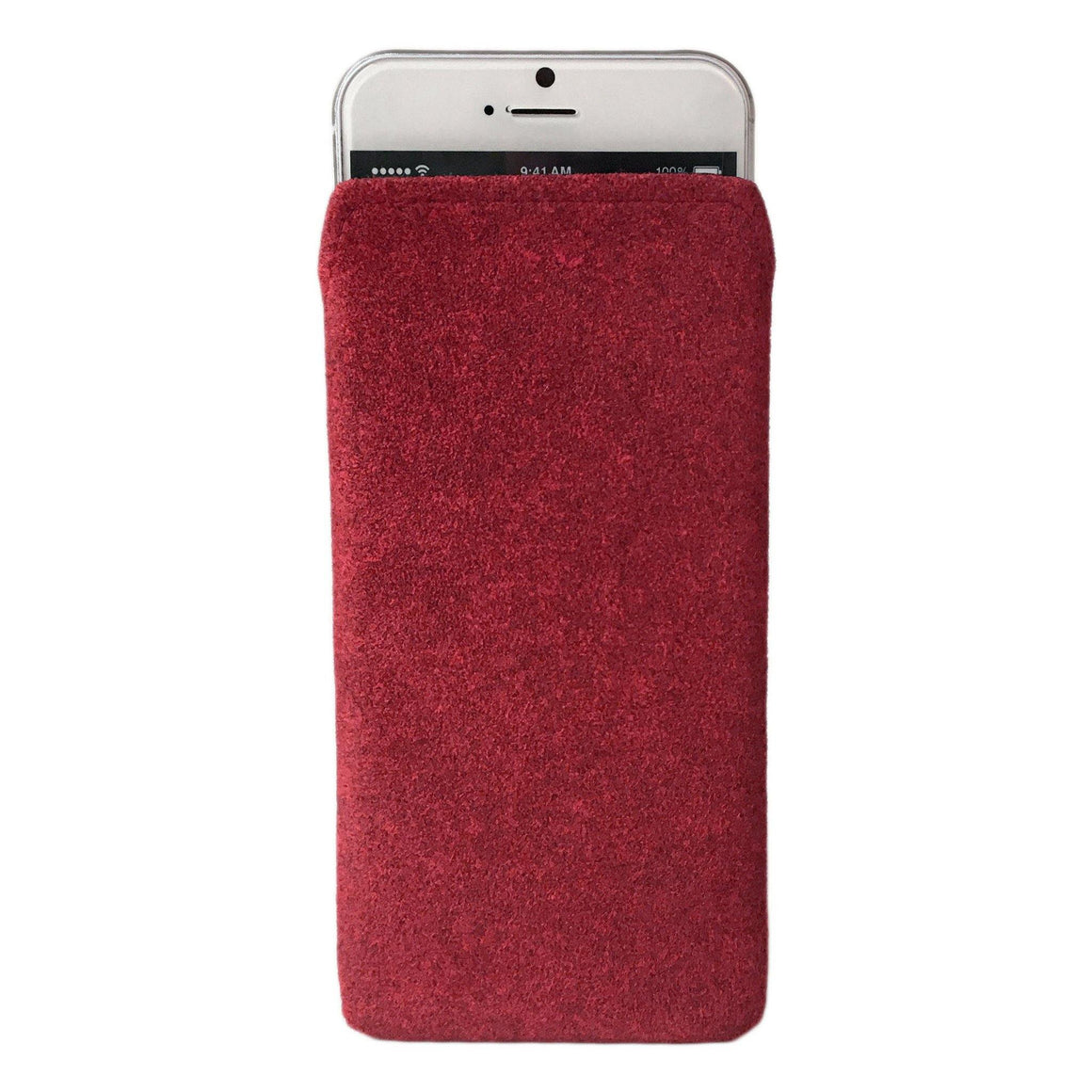 iPhone Alcantara Pouch Pashma Reds - Wrappers UK