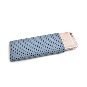 iPhone Alcantara Slip-Case Sky Blue - Wrappers UK