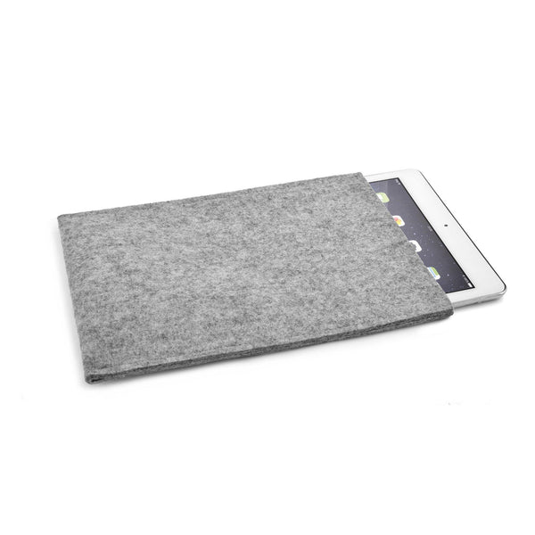 iPad Pro 12.9 inch Wool Felt Cover Grey Portrait