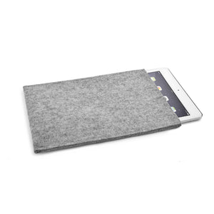 iPad Wool Felt Cover Grey Portrait - Wrappers UK