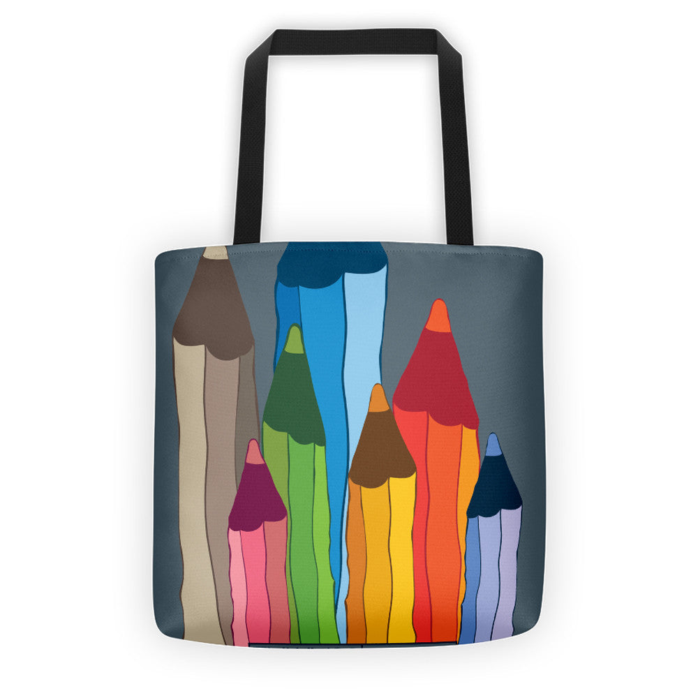 CREATIVITY, ALL-OVER PRINT TOTE BAG - YANMOS