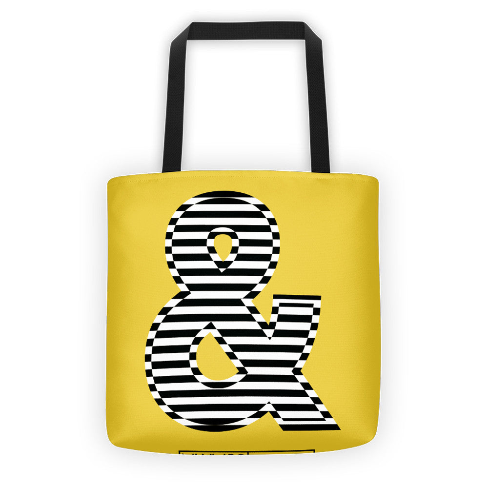 THE AMPERSAND, ALL-OVER PRINT TOTE BAG - YANMOS