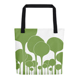 GREEN PALETTE, ALL-OVER PRINT TOTE BAG - YANMOS