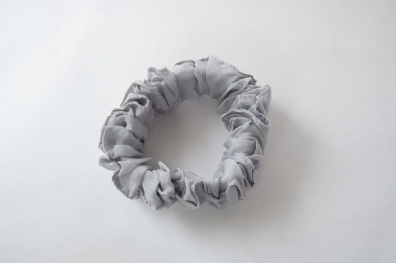 Stephany Grey Cotton Silk Scrunchy - Republic of Mode