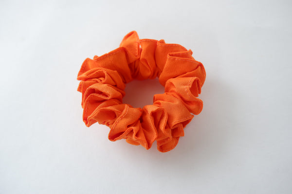 Stephany Tangerine Silk Scrunchy - Republic of Mode