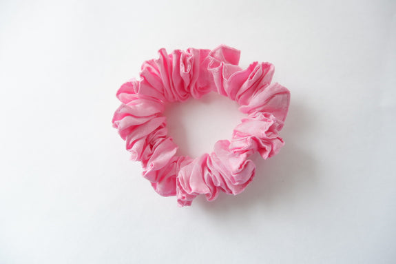 Stephany Pink Cotton Silk Scrunchy - Republic of Mode