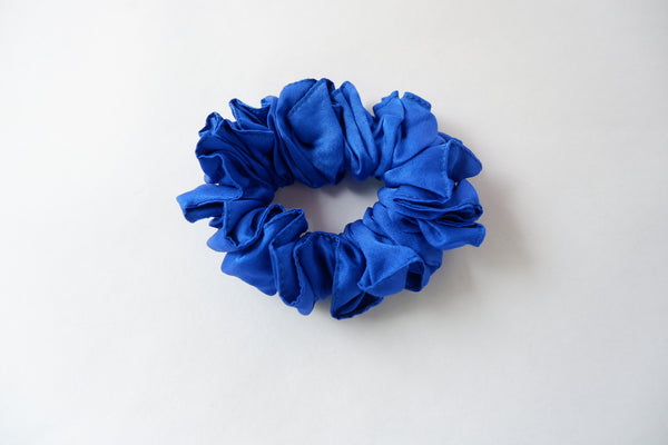 Stephany Cerulean Blue Silk Scrunchy - Republic of Mode