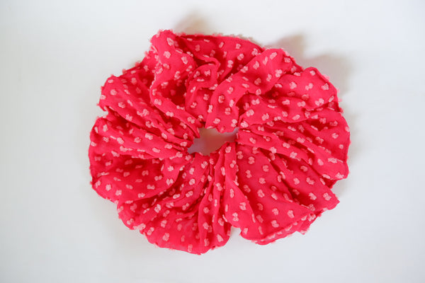 Stephany Hot Pink Silk Scrunchy - Republic of Mode