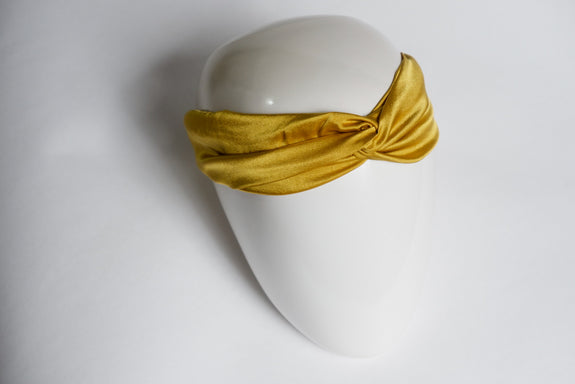 Stephany Mustard Twist Hairband - Republic of Mode