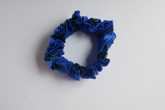 Stephany Tye-Dye Blue Silk Scrunchy - Republic of Mode