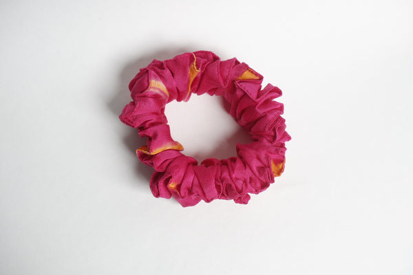 Stephany Tye-Dye Pink Silk Scrunchy - Republic of Mode