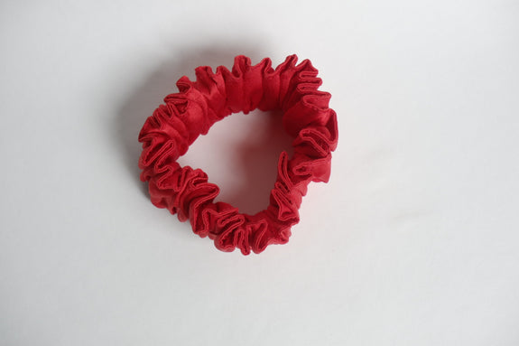 Stephany Red Silk Scrunchy - Republic of Mode