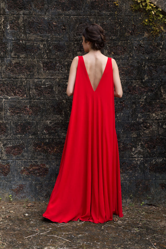 Stephany Low-Back Maxi Dress - Republic of Mode