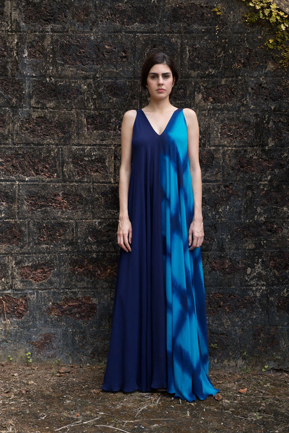 Stephany Fold-Dye V-Neck Maxi Dress - Republic of Mode