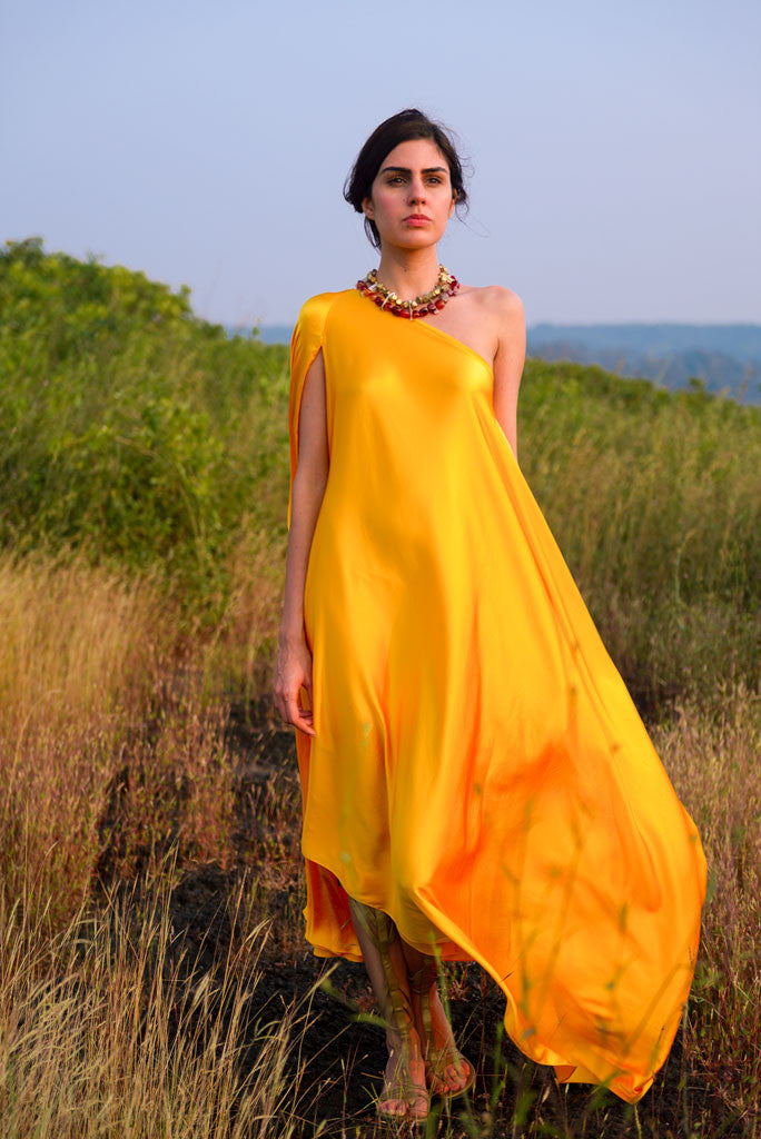 Stephany Draped One Shoulder Dress Featured View - Republic of Mode