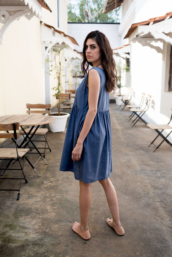 Creamoda Midi Smock Dress - Republic of Mode