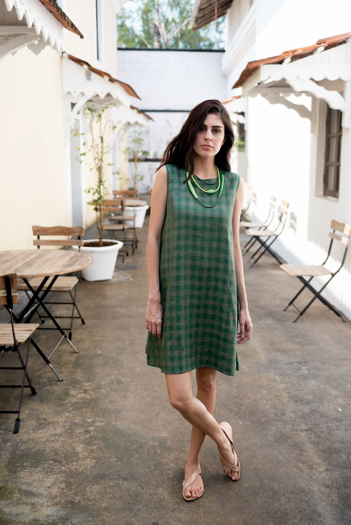 Creamoda Checkered Swing Dress Featured View - Republic of Mode