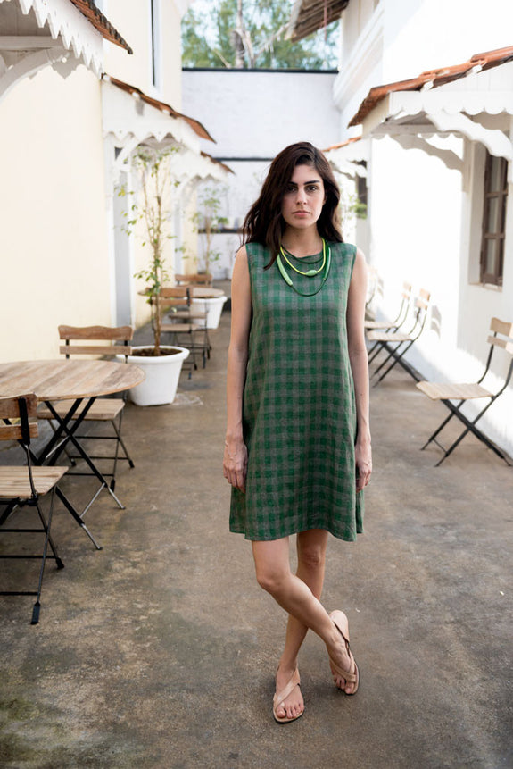 Creamoda Checkered Swing Dress - Republic of Mode