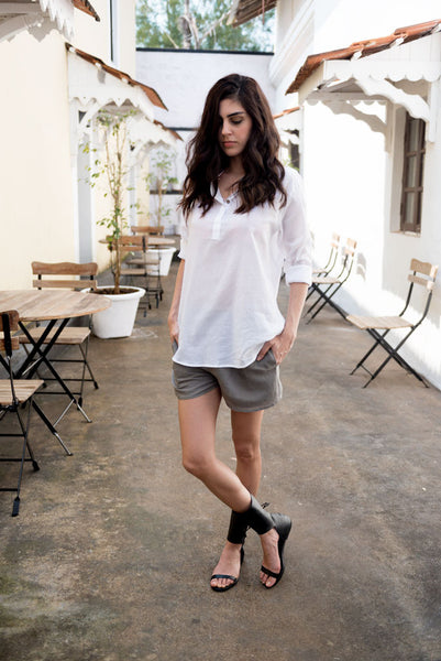 Creamoda Kurta Style Shirt Featured View - Republic of Mode