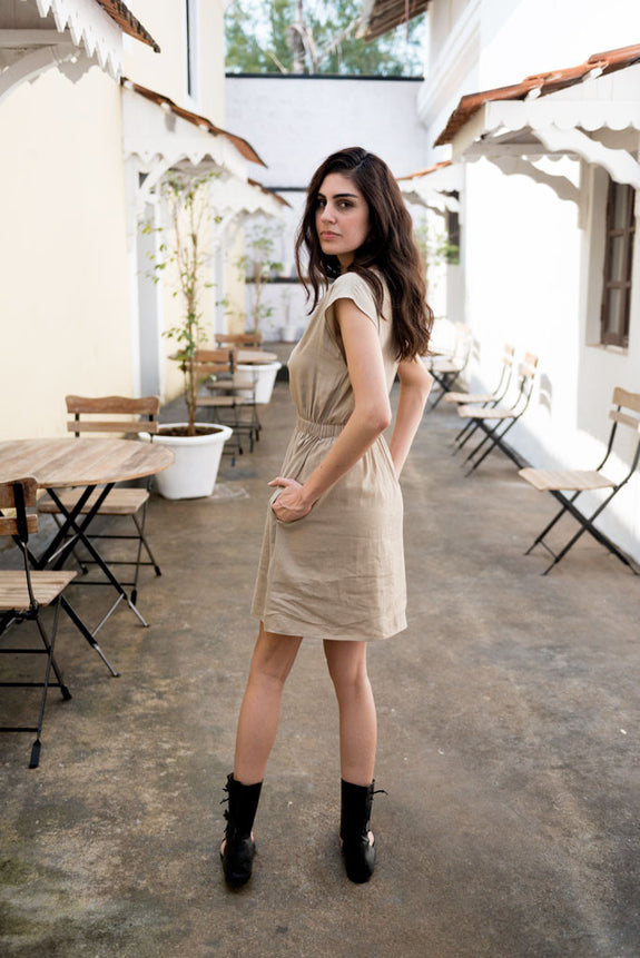 Creamoda Elasticated Smock Dress - Republic of Mode