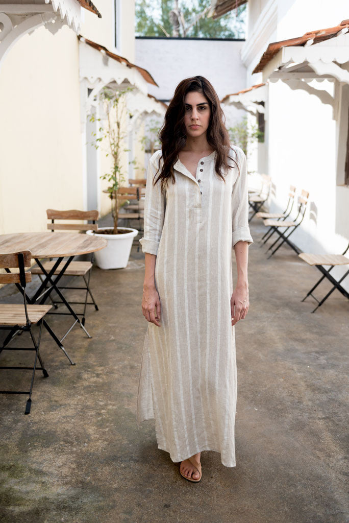 Creamoda Striped Shirt Dress Featured View - Republic of Mode