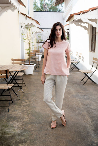 Creamoda Short Sleeve Top Featured View - Republic of Mode