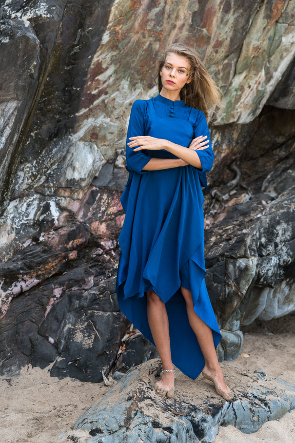 Stephany Layered Silk Tunic Dress - Republic of Mode