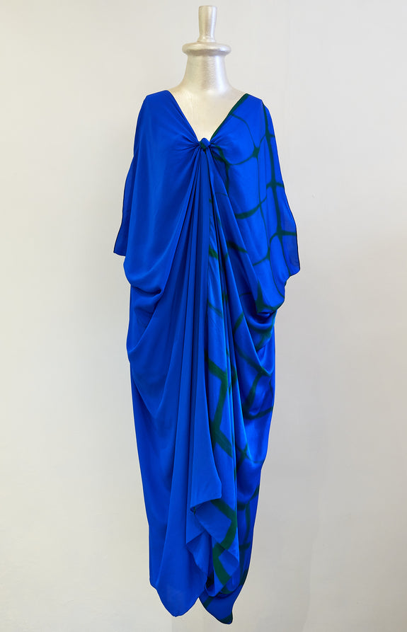 Stephany Fold-dye Front Knot Kaftan - Republic of Mode