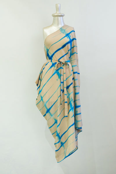 Stephany Tie-Dye One-Shoulder Kaftan - Republic of Mode