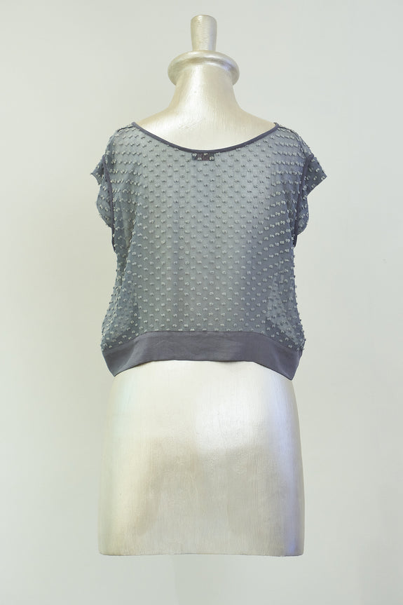 Stephany Sheer Crop Top - Republic of Mode