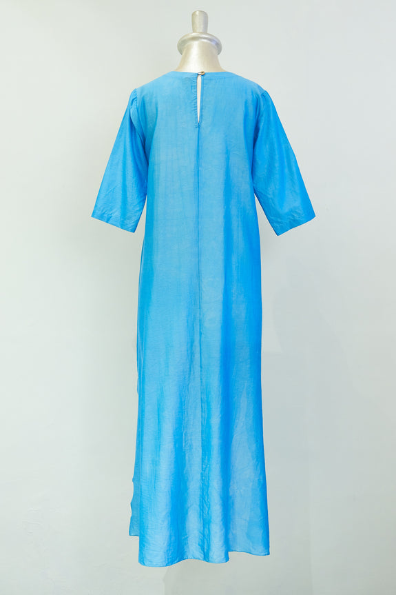 Stephany Chanderi V-Neck Tunic w/ Side Slits - Republic of Mode