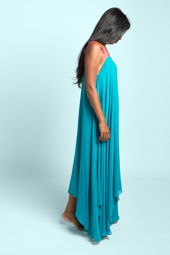 Stephany Layered High-Low Dress w/ Strap - Republic of Mode