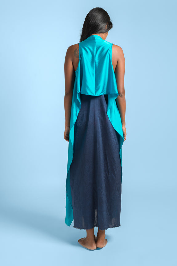 Stephany Long Paneled Jacket w/ Strappy Slip Dress - Republic of Mode